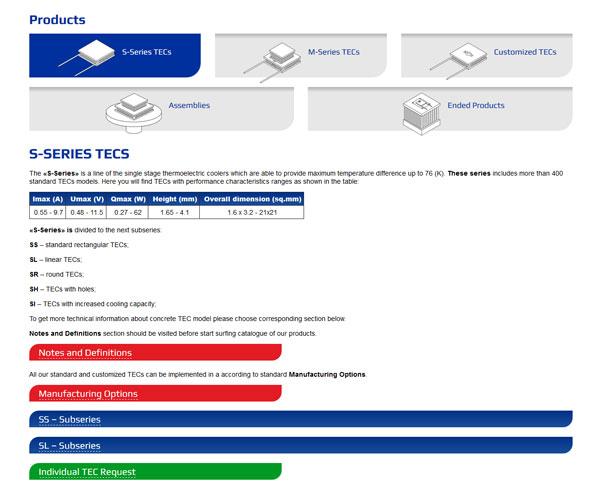 Страница каталога уровень 2