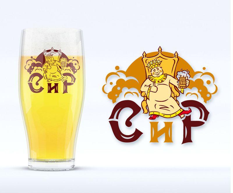 Товарный знак пива и бокал